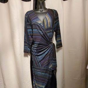 BEAUTIFUL size XL wrap dress by Nina Leonard!